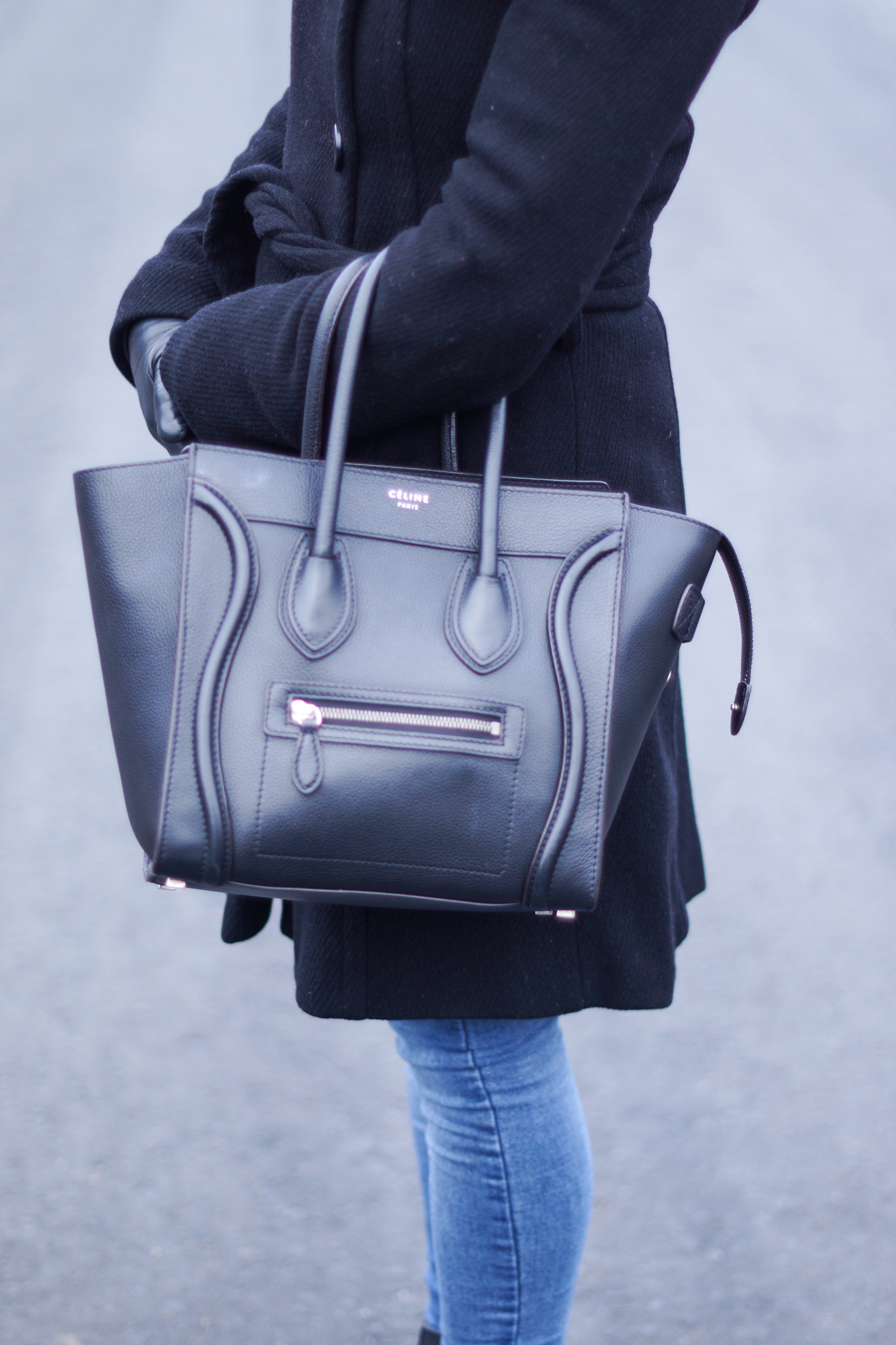 Outfit  Out and about with my Céline Micro Luggage Handbag ... 3368562b7db46