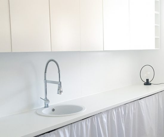 Unser Hauswirtschaftsraum mit neuer Küchenrückwand